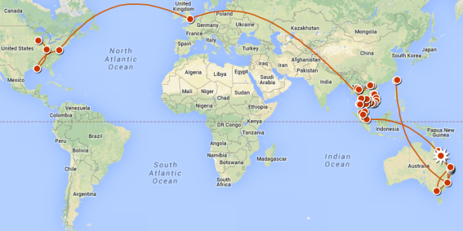 Click the map for the most up to date version of my trip.