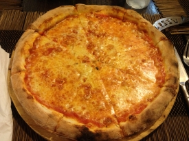 This pizza was fantastic. The place is run by two Italians.