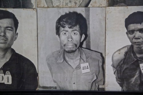 There were walls of pictures of people who were brought into S-21 and eventually killed, but the look on this man's face really stood out of the crowd to me.