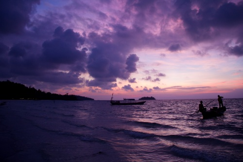 The first sunrise on Koh Rong was naturally the best one.  I woke up early every day but never came close to replicating this scene.