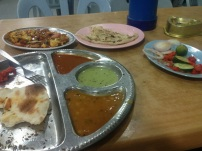 What was left of $7 worth of Indian food. So so so good.