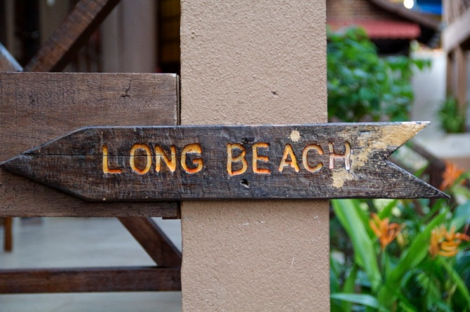 This was one of the two signs on the entire western part of the beach that tells you how to get to Long Beach.