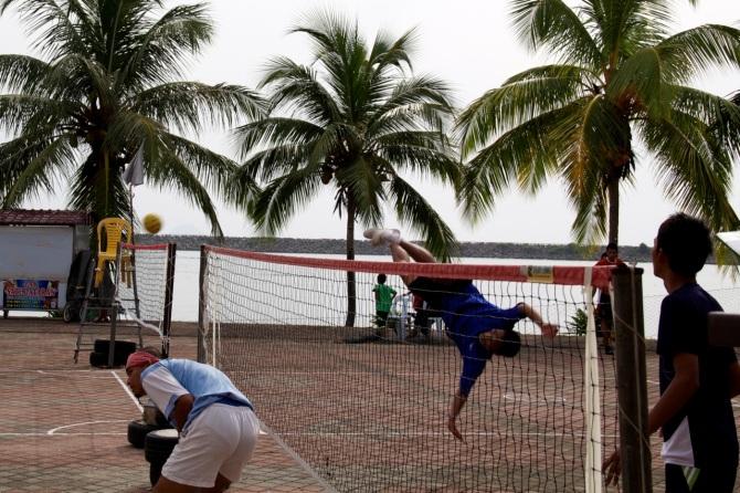 Step 2: Keep Eye on Ball and Kick it Across the Net
